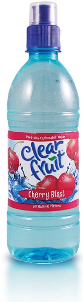 Clear Fruit Cherry Blast Water Sport Bottle, 16.9 oz (24 Pack) by Clear Fruit