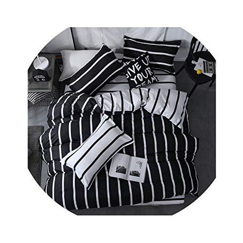 love enjoy Home Textile King Queen Twin Bed Linens Black Shooting Star Duvet Cover Sheet Pillowcase Boy Kid Teen Girl Bedding Sets,5,Queen,Flat Bed Sheet