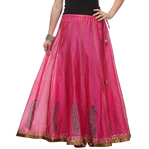 From Handicrfats Calf Wraparound Export Mid Skirt Indian Women's Pezzava Cotton 8pdqW4