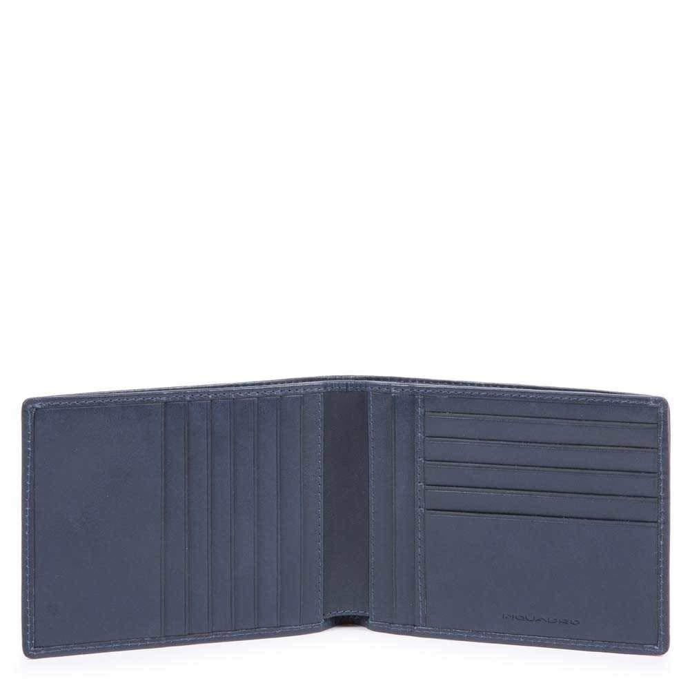 Piquadro Cube Credit Card Case, 13 cm, Blue (Blu)