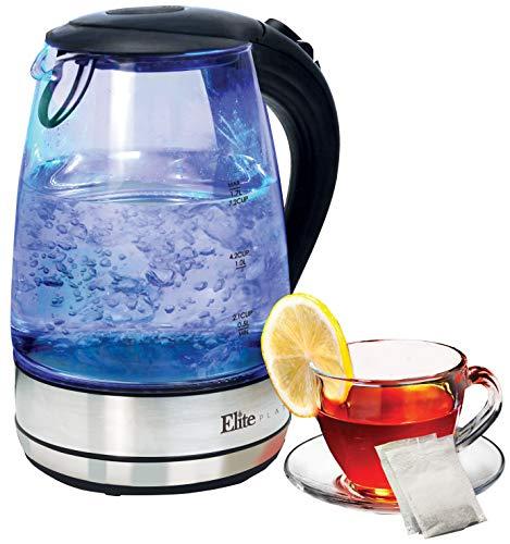 Elite Platinum EKT-200 Maxi-Matic 1.7 L Cordless Glass Kettle, Clear