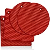 Premium Silicone Trivet Mats: 4 Multi-purpose Pot