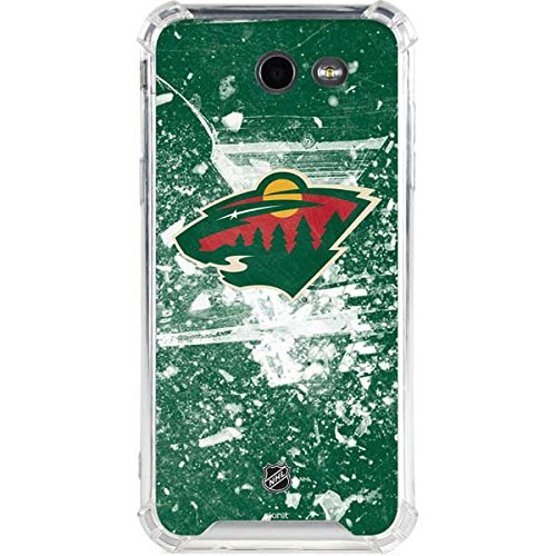 Skinit NHL Minnesota Wild Galaxy J3 LeNu Case - Minnesota Wild Frozen Design - Premium Vinyl Decal Phone Cover