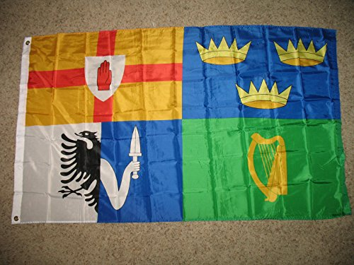 "Ireland ""Provinces"" Flag - 3 foot by 5 foot Polyester - Irish (NEW)"