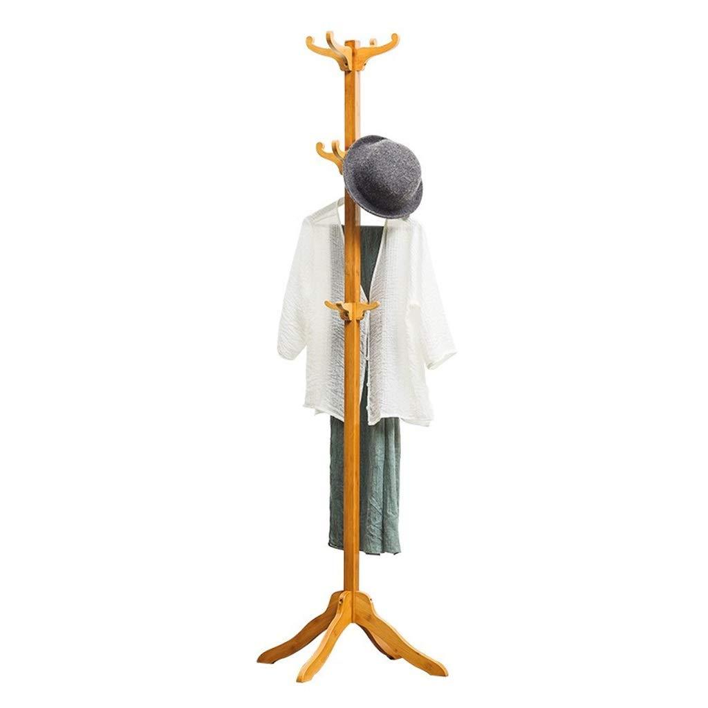 Coat Hanger Coat Rack Simple Bedroom Solid Wood Multi-hook Clothes Rack Coat Hook Floor-standing greenical Hanger
