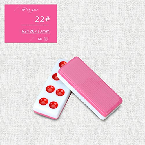 NuoEn Pai Gow Tiles Cards Traditional Game Set Family Leisure Time Games 32 Tiles ( Color : Pink22# )