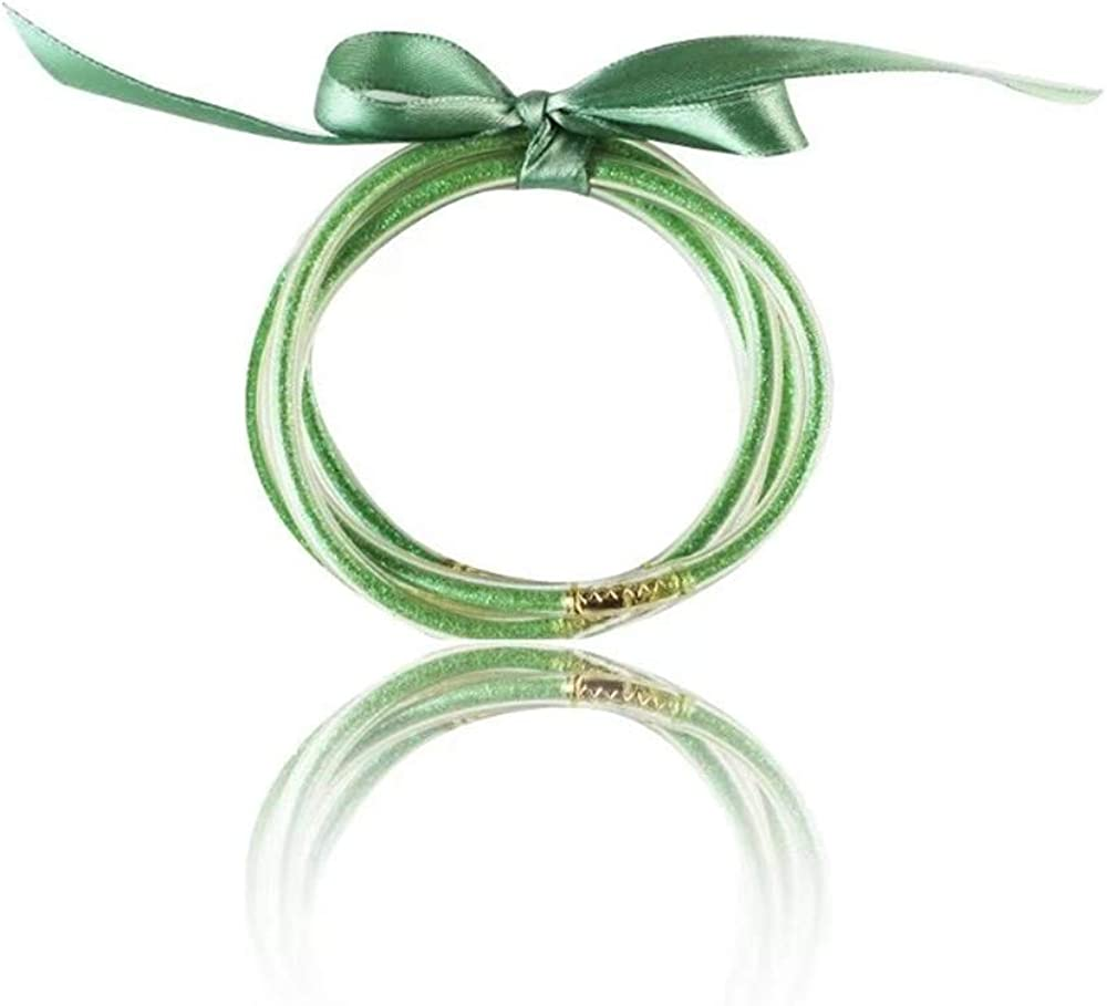 Lateefah All Weather Glitter Bangles Set Glitter Bracelet Filled Jelly Silicone Bracelet for Women Girls /…