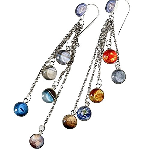 Galaxy Space Earrings - Solar System, Milky Way, Planets ...