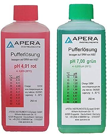 apera Instruments PH Calibración Soluciones Juego 4.0.1/7.00 250 ml cada uno,