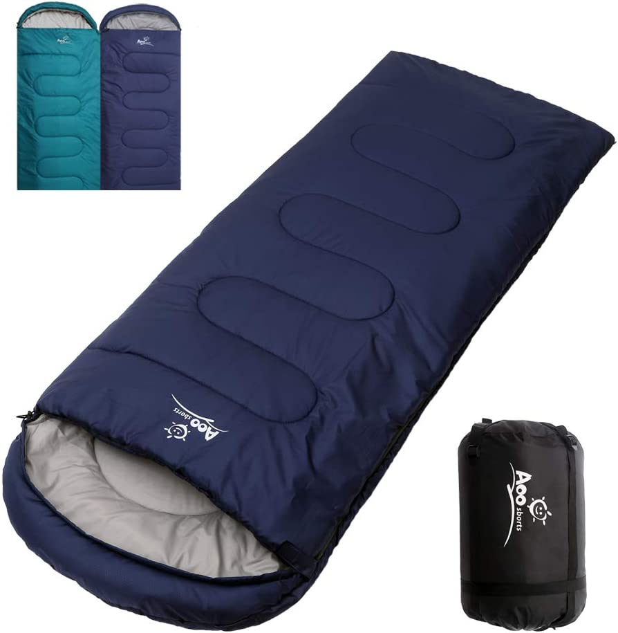 Camping Sleeping Bag, Waterproof Envelope Lightweight Portable Sleeping Bags Great For 4 Season Traveling, Camping, Hiking, Backpacking and Outdoor Activities For Adults, Kids, Girls and Boys