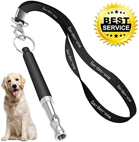 Dog Whistle, Professional Dog Training Whistle to Stop Barking, Adjustable Frequency Ultrasonic Sound Training Tool Silent Bark Control for Dogs Aide Fetch, Sit, Stand, Come with Free Lanyard Strap
