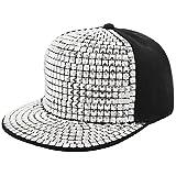 La moriposa Unisex Kid Shiny Rivet Sequins Reflective Baseball Snapback Cap Dance Party Adjustable Hip-Hop Hat(Silver)