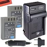 2 Pack of EN-EL9, EN-EL9A Batteries and Battery Charger for Nikon D5000, D3000, D60, D40x & D40 Digital SLR Camera