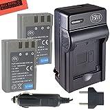 BM Premium 2 Pack of EN-EL9, EN-EL9A Batteries and Battery Charger for Nikon D5000, D3000, D60, D40x & D40 Digital SLR Camera