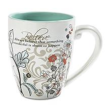 Mark My Words 66342 Believe Ceramic Mug, 20 oz Pavilion Gift Company, Multicolored