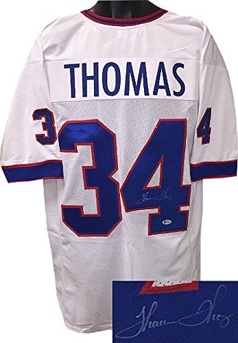RDB Holdings & Consulting CTBL-020136 Thurman Thomas Signed White TB Stitched Pro Style Football Jersey - Beckett Hologram - Extra Large