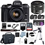 Canon EOS M5 Digital Camera (Black) with EF-M 15–45mm f/3.5–6.3 is STM Lens + Deluxe Accessory Bundle – Includes Everything You Need to Get Started Review
