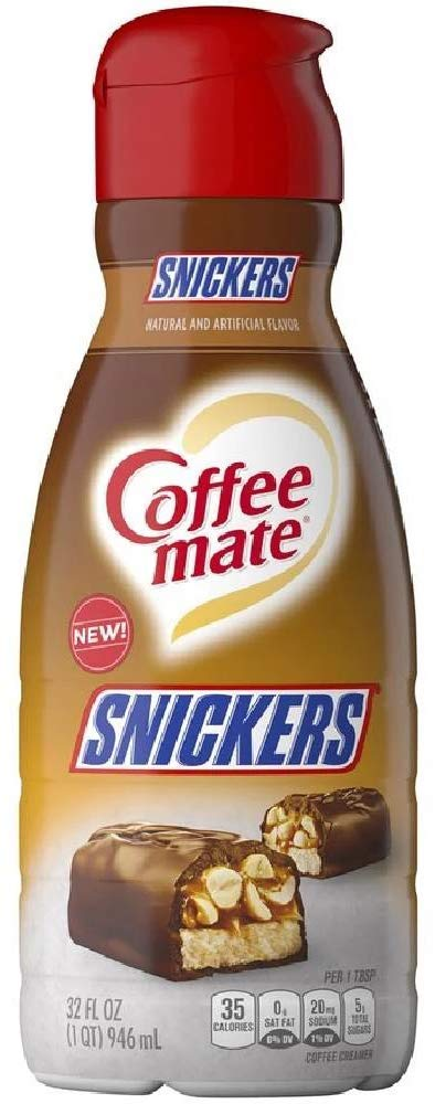 Coffee Mate Snickers Coffee Creamer - 32 fl oz - Pack of 4