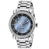 Mens Diamond Watch 0.12ctw of diamonds by Luxurman Blue MOP