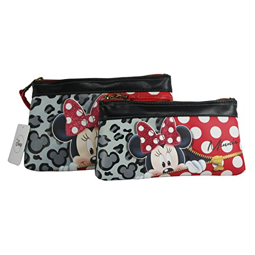Minnie Zipper Kit Set Due Pezzi Astuccio Porta Trucchi Make Up Scuola Beauty