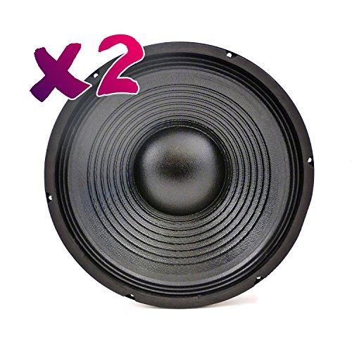 """LOT DE 2 Soundlab 12"""" Haut-Parleur 200W 8 Ohm"""