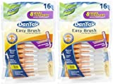 DenTek Easy Brush Interdental Cleaners, Mint 16 ea ( Pack of 6 )