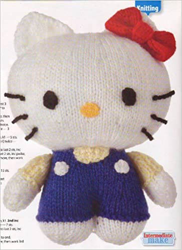 Hello Kitty Toy Doll Knitting Pattern Measurements 18cm7 Womans