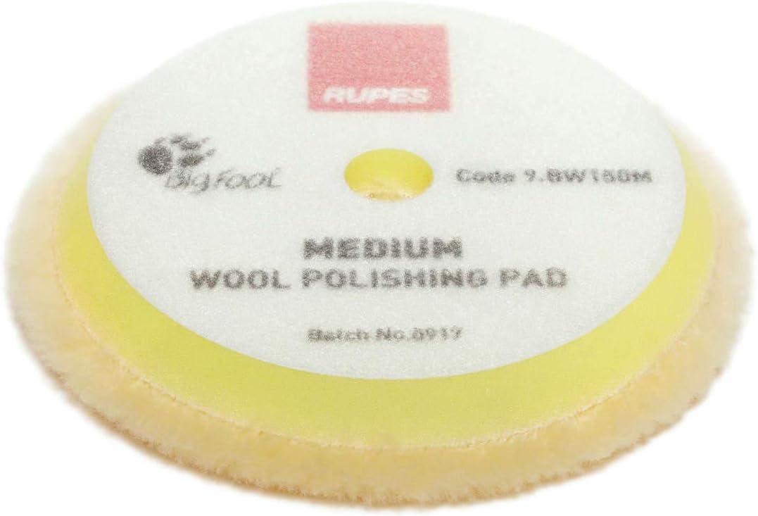 Rupes Bigfoot Gelbe Woll Pads Medium 130 150 Mm 2 Stück Für Mille Lk900 Lhr15 Lhr12 Und Rotations Polierer Auto