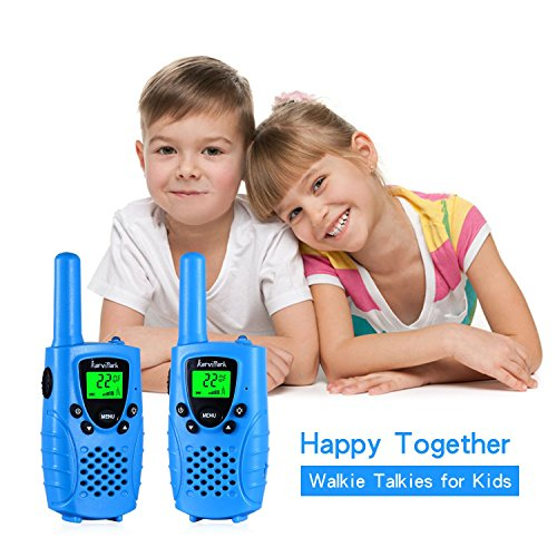 Walkie talkies for kids by KarviPack,22 channel two way radio up to use 3 Miles,Could be charged by any USB(Blue)