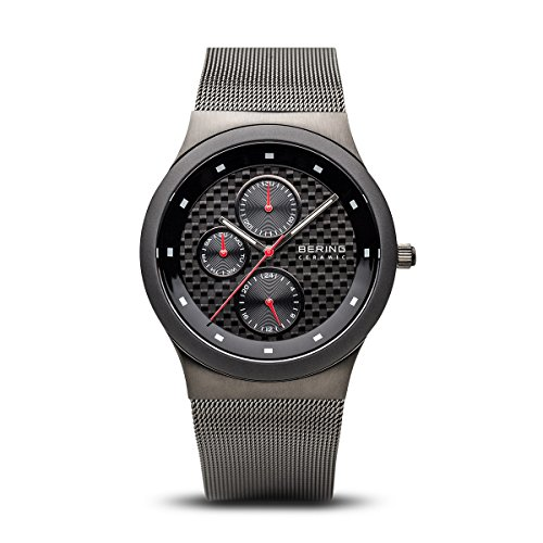 - BERING Time 32139-309 Mens Ceramic Collection Watch with Mesh Band and Scratch Resistant Sapphire Crystal. Designed in Denmark.