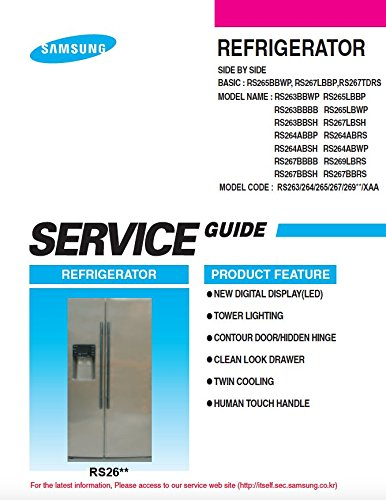 RS265BBWP, RS267LBBP,RS267TDRS and More models SERVICE MANUAL