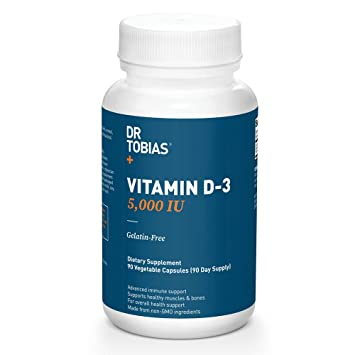 a3dfd8377873 Amazon.com: Dr Tobias Vitamin D3-5000 IU of Vitamin D-3 (90 Count ...