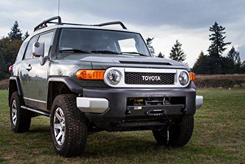 Toyota Land Cruiser Winch (Toyota FJ Cruiser Stronghold Winch Bumper Metal Tech)