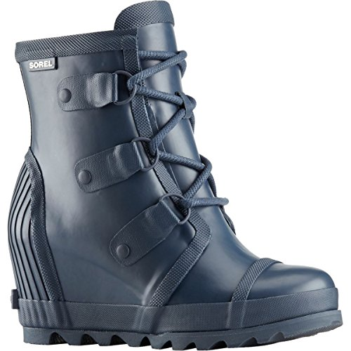 Rain Sorel Navy Atmosphere Joan Collegiate Winter Wedge Women Boot HH5arqw