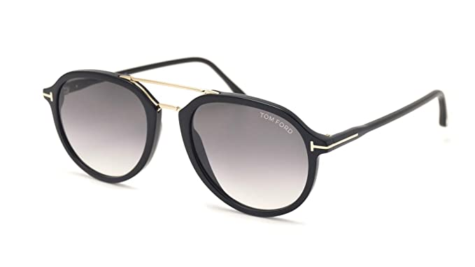 ad64d27fc4e59 Gafas de Sol Tom Ford RUPERT FT 0674 BLACK GREY SHADED hombre  Amazon.es   Ropa y accesorios