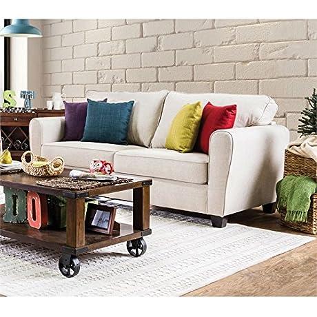 Furniture Of America Dawson Fabric Sofa In Beige