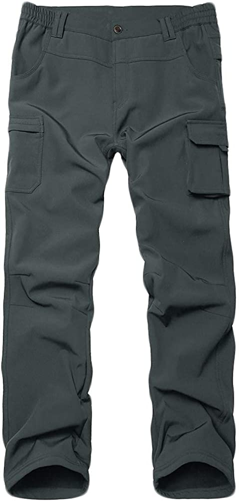 Kids Boys Girls Waterproof Hiking Pants Winter Windproof Fleece Lined Snow Insulated Shell Pants