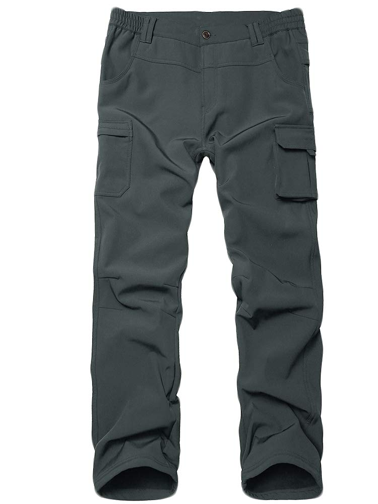 Toomett Boys Girls Waterproof Outdoor Hiking Pants Warm Fleece Lined,9020,Dark Grey XL,18-20 Years by Toomett