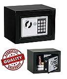 New Digital Electronic Safe Security Box Keypad Lock Wall Jewelry Gun Cash Black