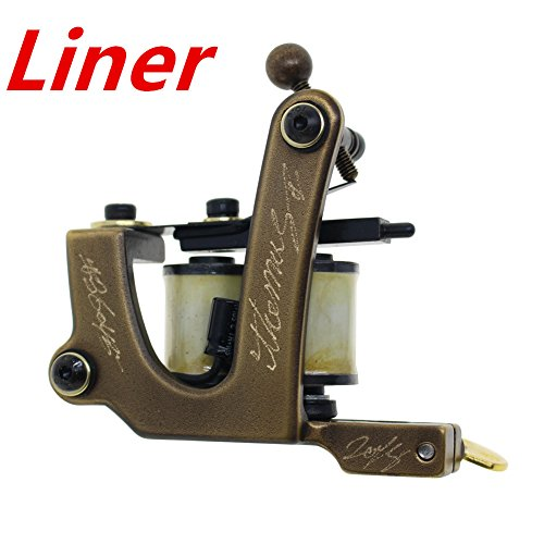 Thomas Liner Handmade Tattoo Machine Gun 8 Wrap Coils for Tattoo - Handmade Gun Tattoo