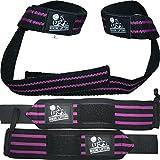 Nordic Lifting Lifting Wrist Wraps Bundle, (2 Pairs) - Black/Purple