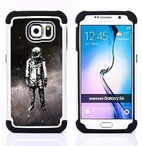For Samsung Galaxy S6 G9200 - Space Suit Travel Man Astronaut Stars Art Painting Dual Layer caso de Shell HUELGA Impacto pata de cabra con im????genes gr????ficas Steam - Funny Shop -