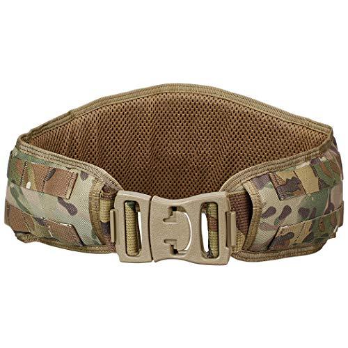 IDOGEAR Tactical Belt Padded Patrol Molle Battle Belt 1000D High Density Nylon Padded Combat Waist Belts Airsoft Hunting Shooting Outdoor Gear Multicam (Condor Web Belt)