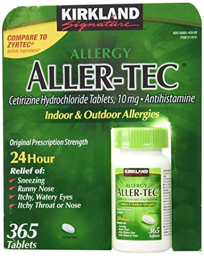 Kirkland Signature Aller-Tec Cetirizine Hydrochloride Tablets, 10 mg (730 Tablets) - Propranolol Hydrochloride