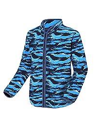 YEEFINE SNOWING Boy Polar Fleece Jacket Camouflage with Zipper