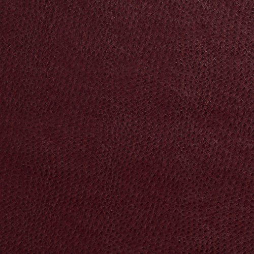 G210 Burgundy Smooth Emu Upholstery Faux Leather By The Yard