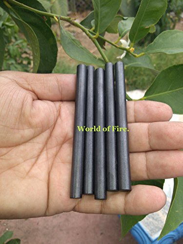 Lot of five (4 inch* long x 5/16 diameter) blank ferrocerium/mischmetal rods/fire steel/made made flint & steel/fire starter.