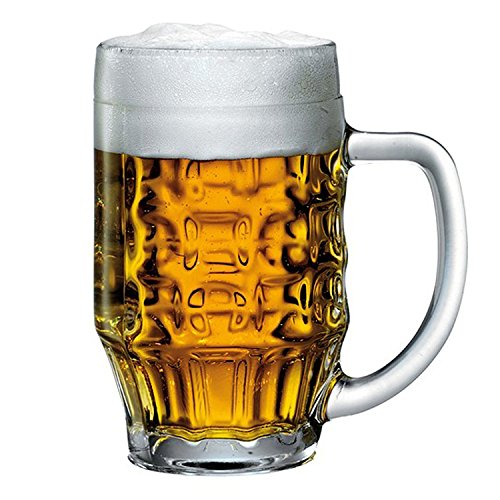 - Bormioli Rocco 600Ml Beer Glass Stein Tankard Glasses Dimpled Ale Mug 0.5L Lined