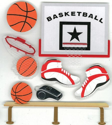 (Jolee's Boutique Basketball Dimensional Stickers)