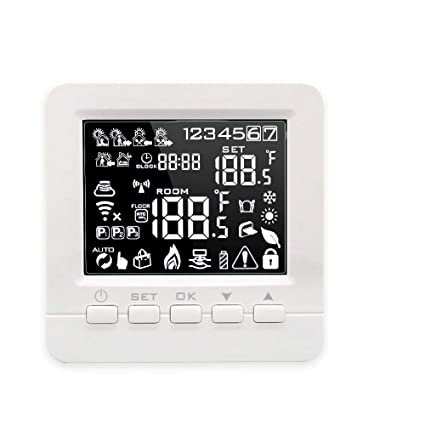 Onepeak Programmable Smart WiFi Thermostat for Water/Gas Boiler Heating Floor Echo Alexa Voice Control